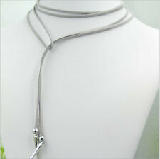 Fashion Women Velvet Leather Choker Rivet Pendant long Necklace Jewelry