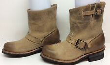#A VTG WOMENS FRYE ENGINEER MOTORCYCLE LEATHER LIGHT BROWN BOOTS SIZE 7 M