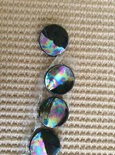 6 Vintage Glass 3 cm Buttons