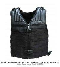 New Authentic Blackhawk S.T.R.I.K.E. Omega Black Adjustable Fit Vest 37CL36BK
