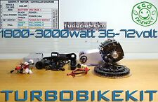 E-Bike conversion 1800-3000watt 36-72volt Waterproof Geared Electric Bike Kit