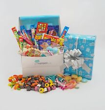 BOYS ONLY RETRO SWEET HAMPER BOX -Wrapped Gift -BIRTHDAY Thank You Get Well