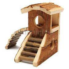 Hand Made Wooden House Villa Cage Exercise Toys for Hamster Hedgehog Mouse Rat