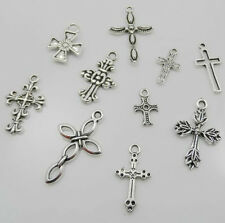 20PCS Mixed Tibetan Silver Cross Charms Pendant For Jewelry Making 10Style Free