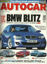 Autocar 23rd July 2003, BMW, Fiesta, Bentley GT v Aston, VX220, Fabia vRS, Caddy