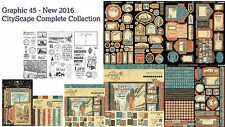 Graphic 45 - CITYSCAPES Collection G45 NEW Spring 2016 Free Shipping IN STOCK