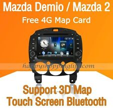 2 Din Car Dash DVD Radio Stereo GPS Navigation Bluetooth USB for Mazda 2 Demio