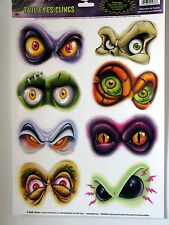 Halloween Decoration Evil Eye Clings Prop 8 Eyes on Sheet for Mirror or Windows