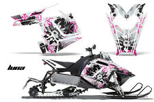 AMR Racing Sled Wrap Polaris Pro RMK Rush Snowmobile Graphics Kit 11-14 LUNA PNK