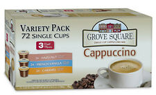 Grove Square Cappuccino Variety Pack 72-Count K-cups for Keurig