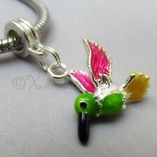 Hummingbird European Charm Pendant For Large Hole Charm Bracelets And Necklaces
