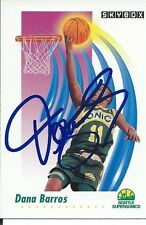 Signed 1991-92 Sky Box Dana Barros Seattle Supersonics  Basketball card #265