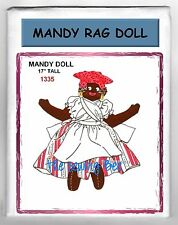 Mandy Vintage Black American Mammy Cloth Doll Pattern with outfit # 1335
