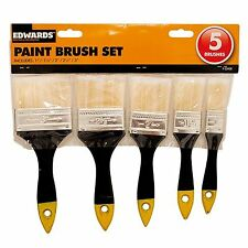 PROFESSIONAL PAINT BRUSH SET 5 PACK DIY DECORATING BRISTLES EMULSION GLOSS