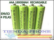 4pc AAA LR3 R03 1800mAh Ni-MH Batería Recargable Verde 3A Móvil Potencia 1.2V