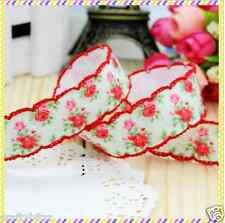 1 meter 7/8 22mm Flower crochet edge print Printed grosgrain ribbon ribbon