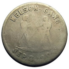 Nevada Trade Token - The Del Monte (Saloon), Goldfield NV, Nelson-Gans Boxing