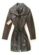 APRIORI manteau en Cuir Marron, pointure 38 NEUF cuir manteau manteau cuire