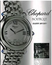 "Publicité Advertising 2000 La Montre Chopard ""Happy Sport"""