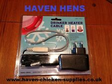 Poultry/chicken/pet drinker heater anti freeze cable keep water from freezing 5w