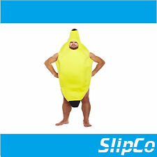 Adult Banana Fancy Dress Costume Funny Fruit Kids Boys Girls Unisex