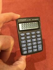 VINTAGE CITIZEN MINI-SIZE SUPER CALCULATOR LC-110ll 1970S-1980s LARGE DISPLAY