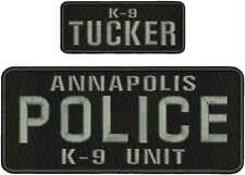 annapolis police k9 unit emb patch 4x10 and 2x5 velcro on back