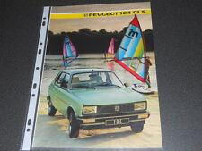 PEUGEOT citadine 104 GLS brochure catalogue - année modèle 1985