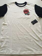 New RVCA Graphic Tee Network Surfer Skater Street T-Shirt Size Medium Retail $34