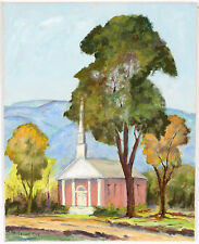 Brown County Indiana Church O/B Sussanah Ott Painting