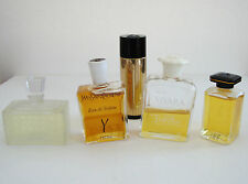 LOT of 5 VINTAGE Perfumes- LANVIN, YSL, CHRISTIAN DIOR, EMILIO PUCCI - FRANCE