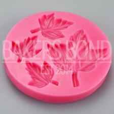 4 Autumn Leaves Silicone Mould Cake Topper Fondant Sugarcraft Bird Animal