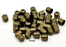 20 x END BEAD CAPS TIPS 6mm for KUMIHIMO  Bracelets & Necklaces ANTIQUE BRONZE