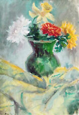 AMY LOWELL - SUMMER BOUQUET - ORIGINAL BRITISH PAINTING - C.1970 - NO RESERVE !!