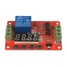 DC 24V Multifunction Self-lock Cycle PLC Timer Relay Module Delay Time Switch