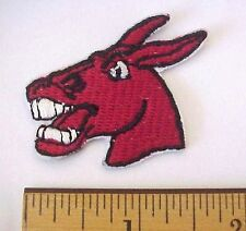 """University of Central Missouri Mules Logo 1 3/4"""" x 1 1/4"""" Embroidered Cap patch"""