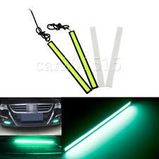 SET OF 2Pcs COB Green Car LED Lights DRL Fog Driving Lamp Waterproof 12V
