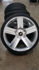 24 Wheels and Tires Texas Edition Style Silver Rims Silverado Suburban Yukon 26