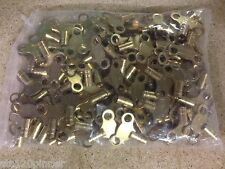 100 X BRASS RADIATOR BLEED KEY CLOCK TYPE