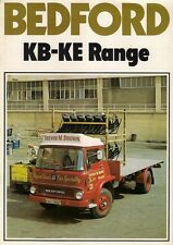 Bedford KB KC KD KE Truck 1975-76 UK Market Sales Brochure 4 & 6 Wheeler