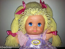 CABBAGE PATCH KID STYLE Crocheted Yellow WIG HAT Halloween Infant Baby 0-12 Mo