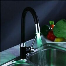 Perfect LED with 3 color  faucet Kitchen black painting Mixer Tap ghreher