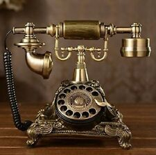 Vintage Style Telephone Retro Rotary Dial Old Fashioned Antique Handset Decor