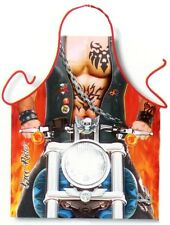 Motorcycle Free Rider biker man kitchen apron Harley D style BBQ one size ITATI