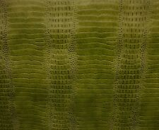 vinyl fake Leather faux Crocodile Nile Faux Lime upholstery embossed  BTY 55""