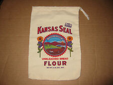 Kansas Seal Unbleached Bread Flour Sack Cloth Bag  2 lbs  Small Great Graphics