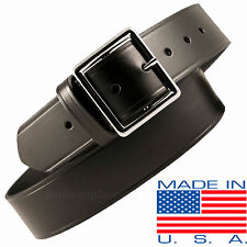 "Men Boston Leather 1-3/4"" Garrison Belt 6605 USA MADE BLACK 30-60 Plain Buckle"