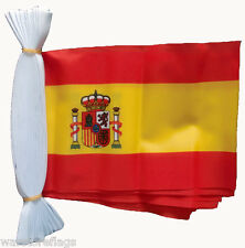 SPAIN 9 METRE FLAG BUNTING Spanish with crest 30 feet 30 flags polyester cloth