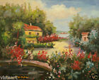 """High Quality Oil Painting On Stretched Canvas 8""""x10""""-Beach Terrace"""