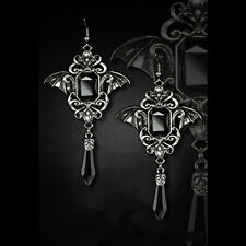 Restyle GOTHIC BATS BLACK Gothic earrings. Vampire, Victorian Gothic.